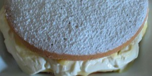 Lemon Sponge cake, filled with Lemon curd and marscapone