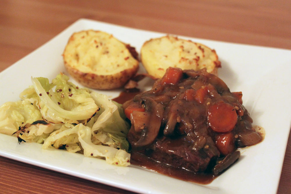 Braised Beef and Caramelised Onions